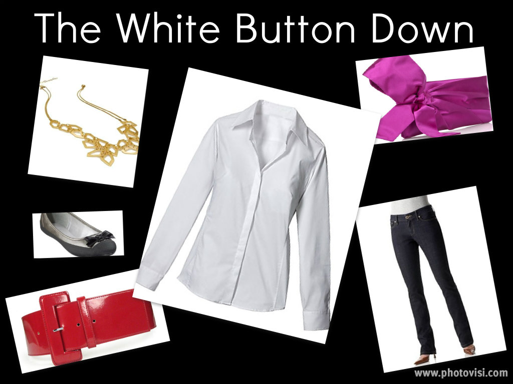 white button down collage1